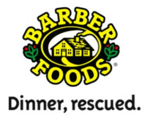 Dinner's made with Barber Foods!