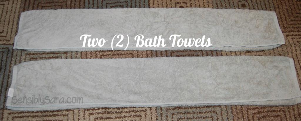 Towel Cake - Step 1 |  SensiblySara.com