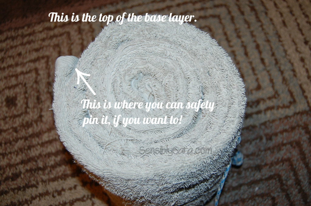 Towel Cake - Step 2 |  SensiblySara.com