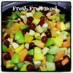 Zoës Kitchen Fresh Fruit Bowl | SensiblySara.com