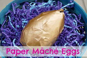 Paper Mâché Easter Eggs {#DIY #Craft}