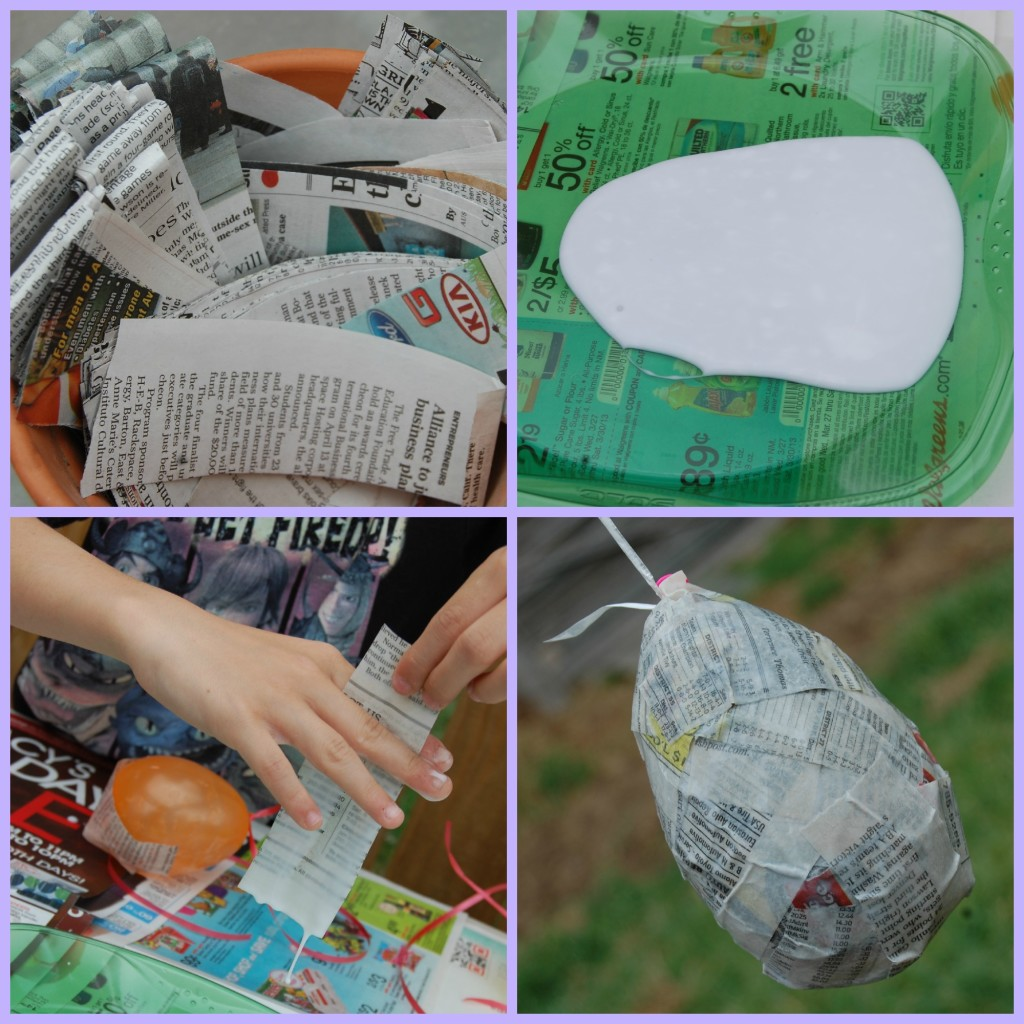 DIY Paper Mâché Eggs Collage | SensiblySara.com