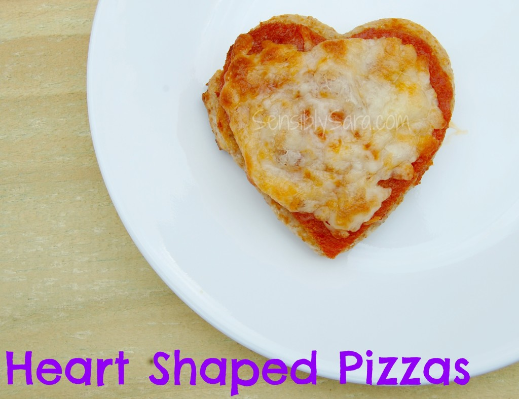 Heart Shaped Pizza with Pillsbury Artisan Pizza Crust | SensiblySara.com
