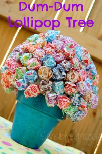 Back to School DIY Dum Dum Lollipop Tree