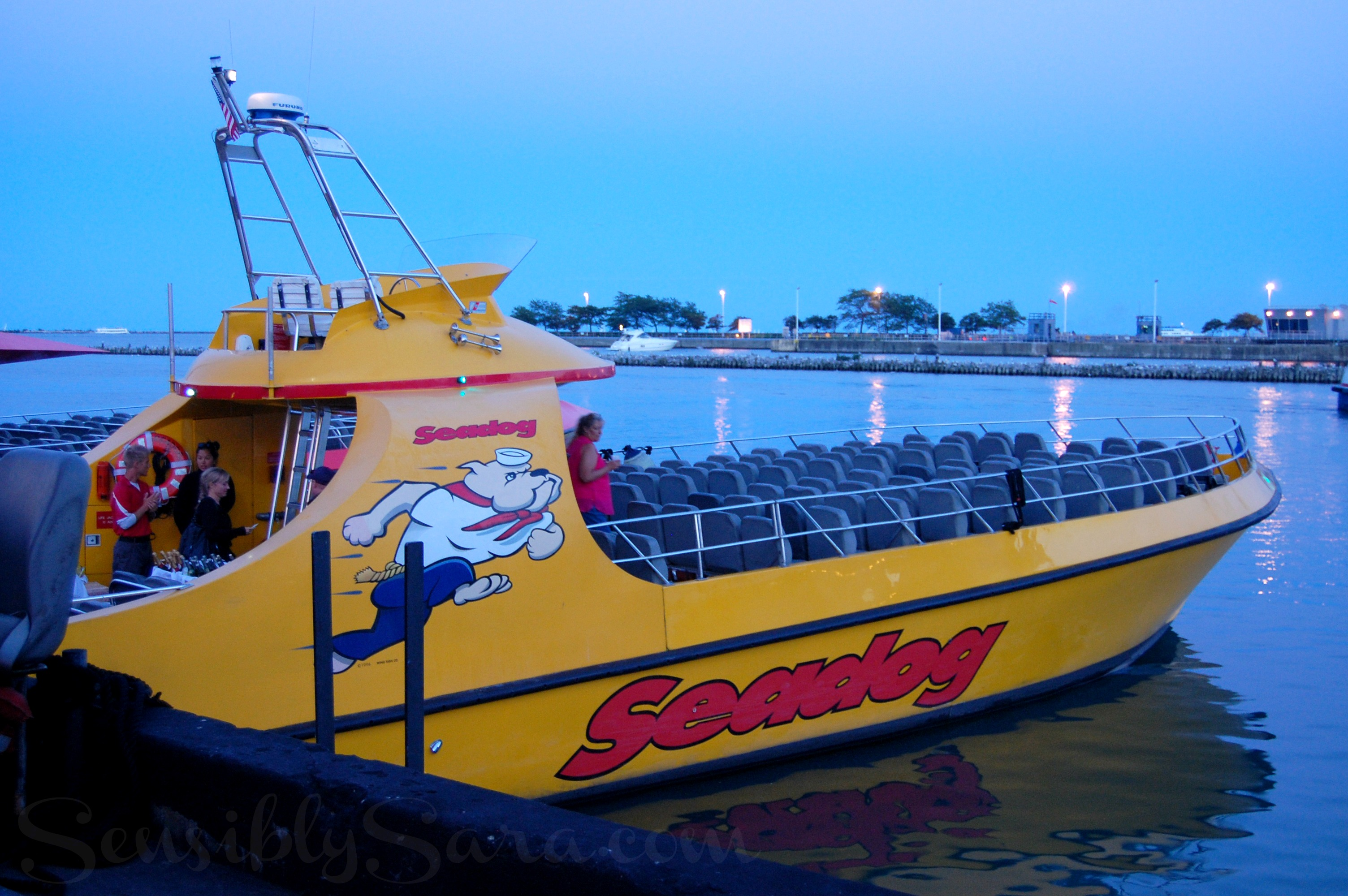 About Seadog Cruises Offering speedboat cruises to explore Lake Michigan and the Chicago River. Lakefront sightseeing cruises and architectural river tours depart daily from Navy Pier.