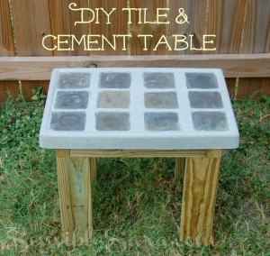 #DIY Tile and Cement Side Table #DontTrashIt