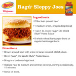Ragu Sloppy Joes Recipe