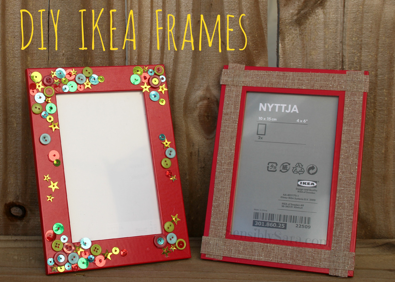 Picture frame crafts diy for Easy photo frame craft