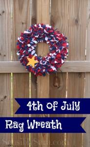 Craft: Fourth of July Rag Wreath