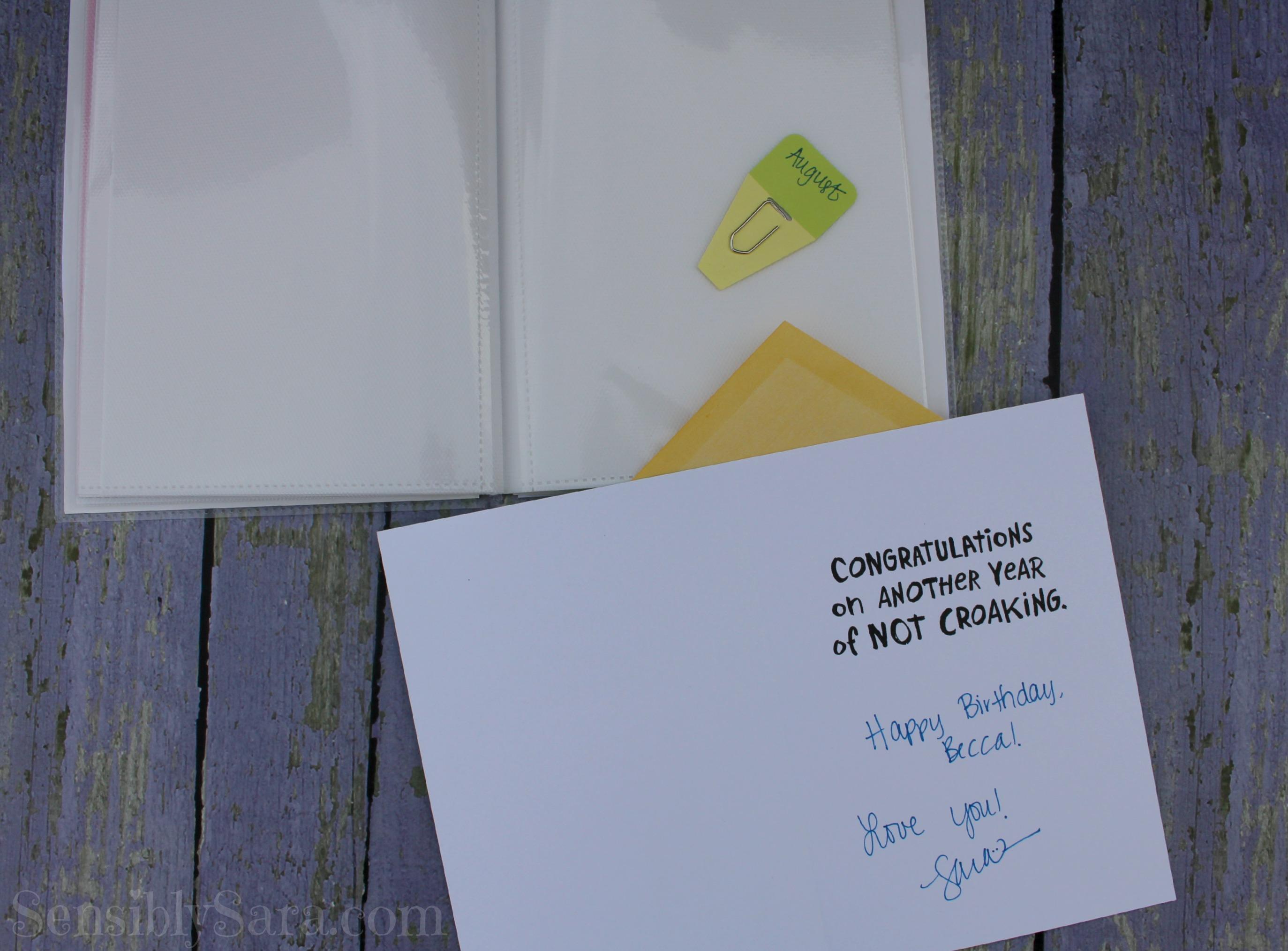 DIY Birthday Card Organizer ValueCards shop cbias – How to Do Birthday Card