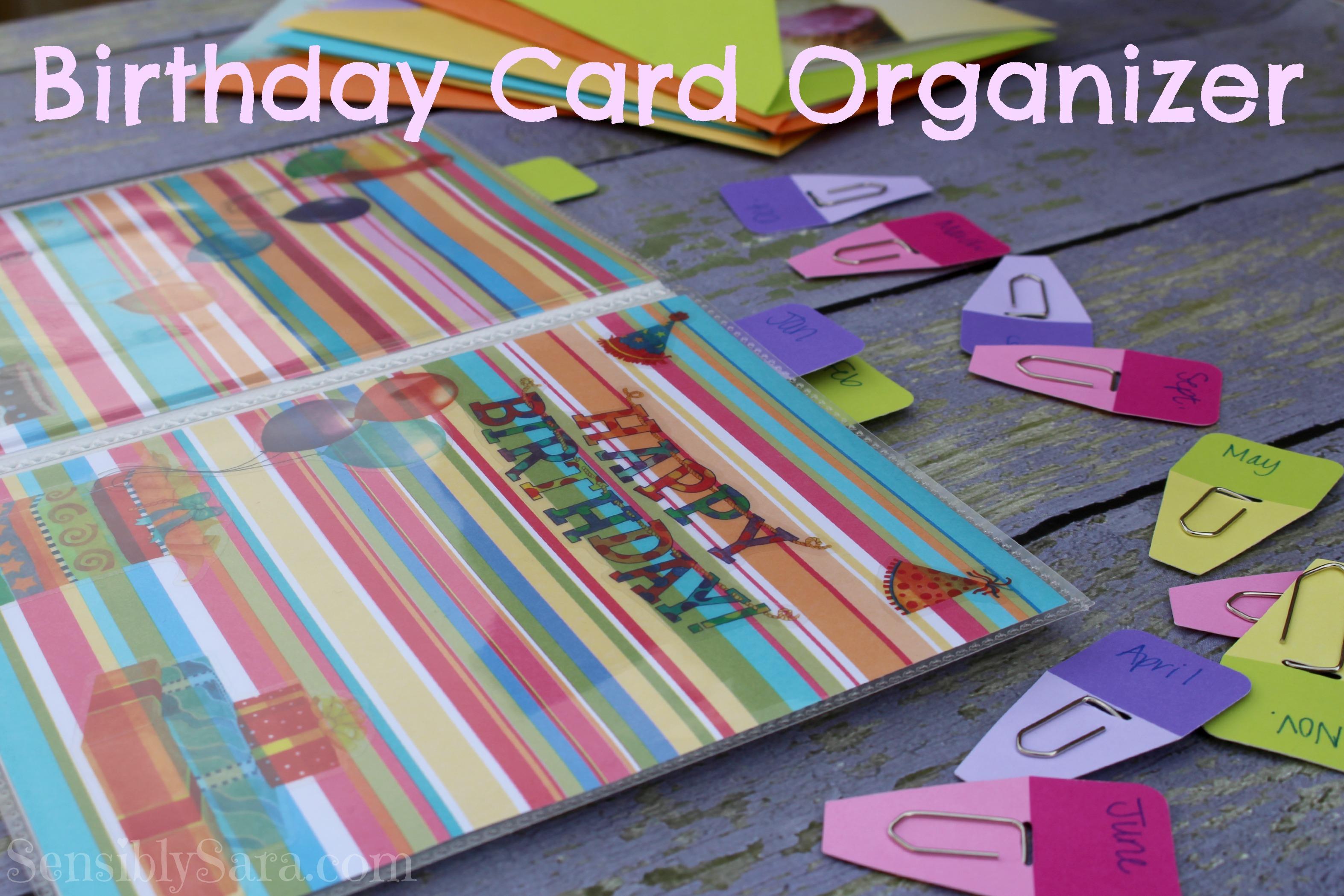 diy birthday card organizer valuecards shop cbias, Birthday card