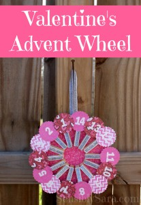 Craft: Valentine's Advent Wheel