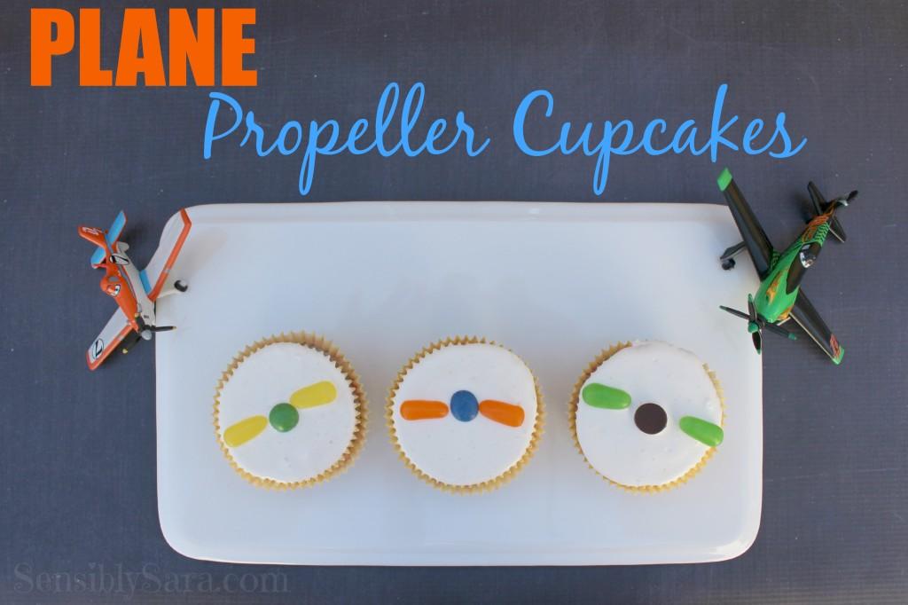 PLANE Propeller Cupcakes | SensiblySara.com