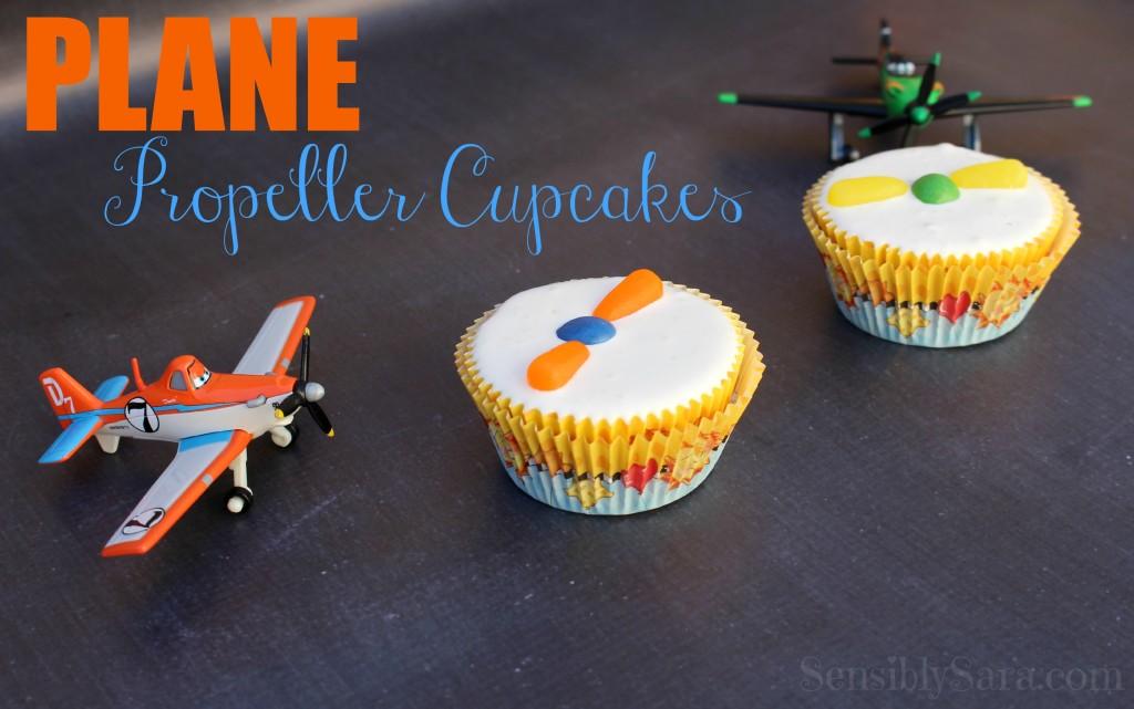 Orange Propeller Cupcakes | SensiblySara.com
