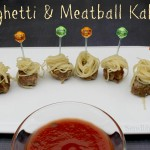 Tailgating Food - Spaghetti & Meatball Kabobs | SensiblySara.com