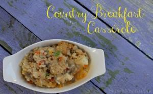 Country Breakfast Casserole #Recipe