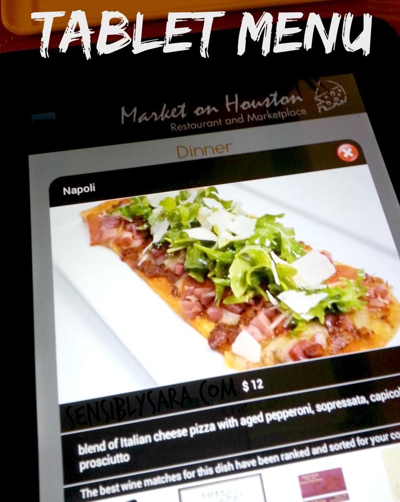 Tablet Menus at Market on Houston | SensiblySara.com