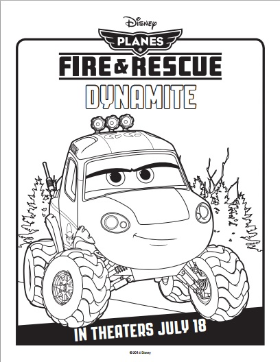 PLANES FIRE AND RESCUE Coloring Sheet