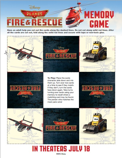 PLANES FIRE AND RESCUE Memory Game