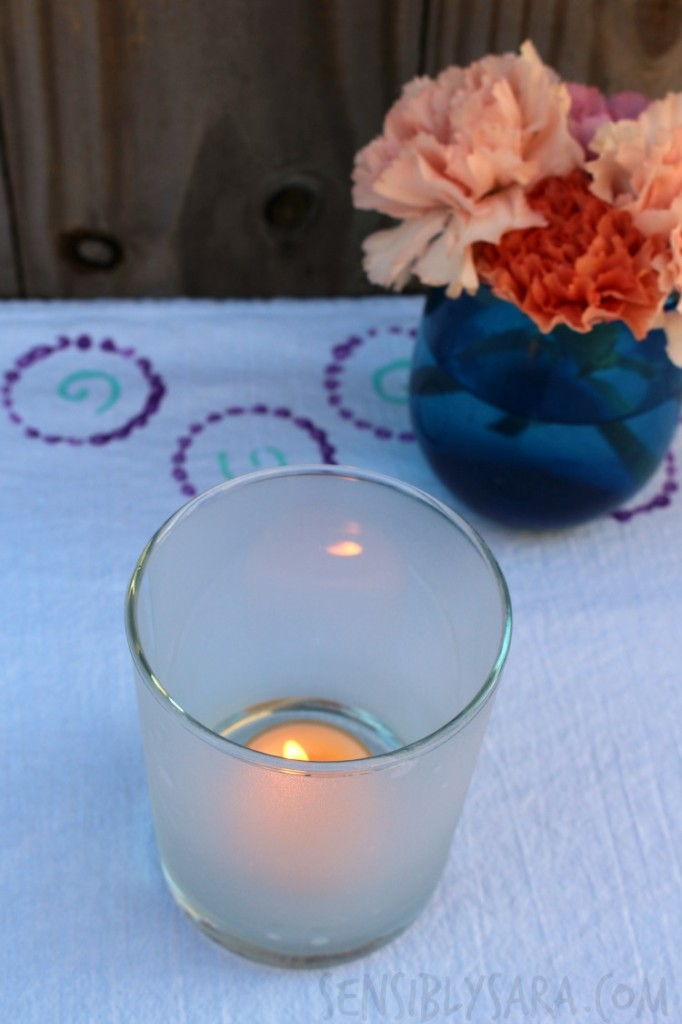 Window Film Candle Holder | SensiblySara.com
