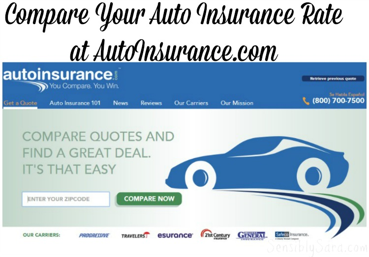 Compare Auto Insurance with AutoInsurance.com shop Compare2Win