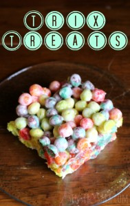 Kids in the Kitchen: Trix Treats