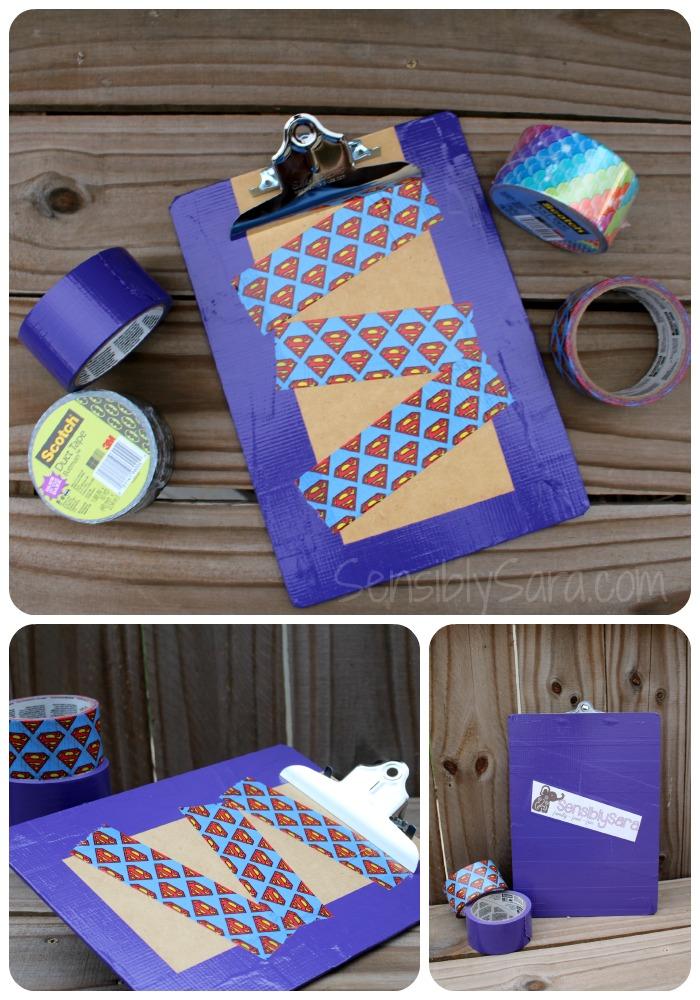 Duct Tape Clipboard | SensiblySara.com