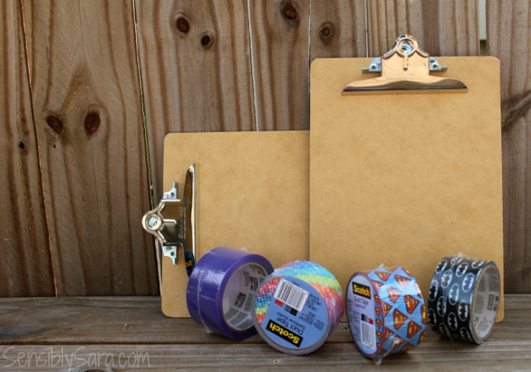 How to make a duct tape covered clipboard | SensiblySara.com