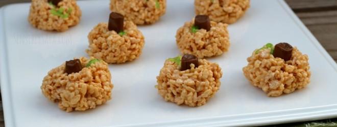 Pumpkin Rice Krispies | SensiblySara.com