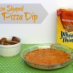 Pumpkin Shaped Pizza Dip | SensiblySara.com