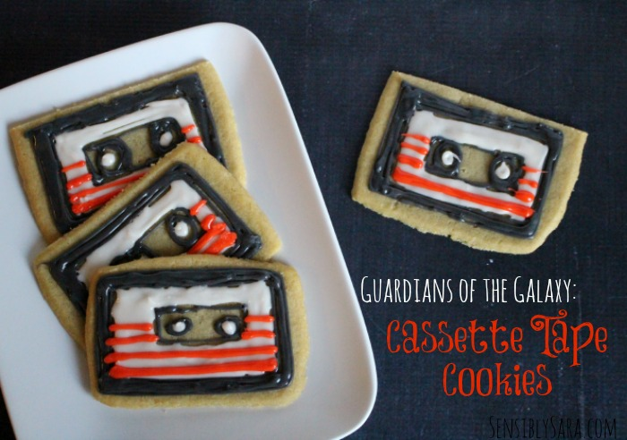 Guardians of the Galaxy Cassette Tape Cookies | SensiblySara.com