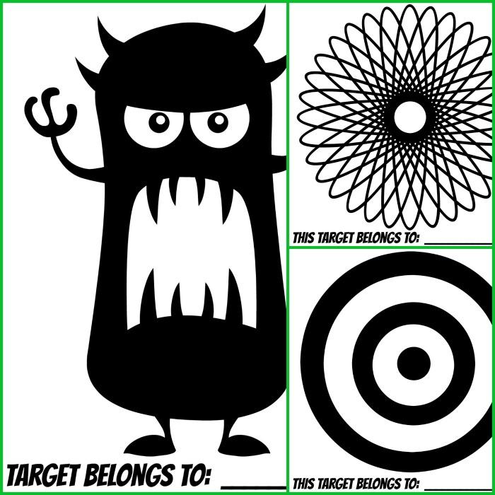 Printable Target , Spiral Printable Target and Printable Target ) here ...
