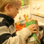 Kids in the Kitchen: Pouring Broth | SensiblySara.com