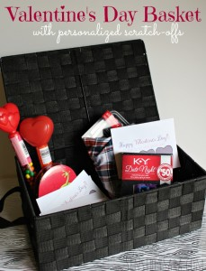 His + Hers Valentine's Day Basket with Personalized Scratch-Offs #ad #YoursAndMine