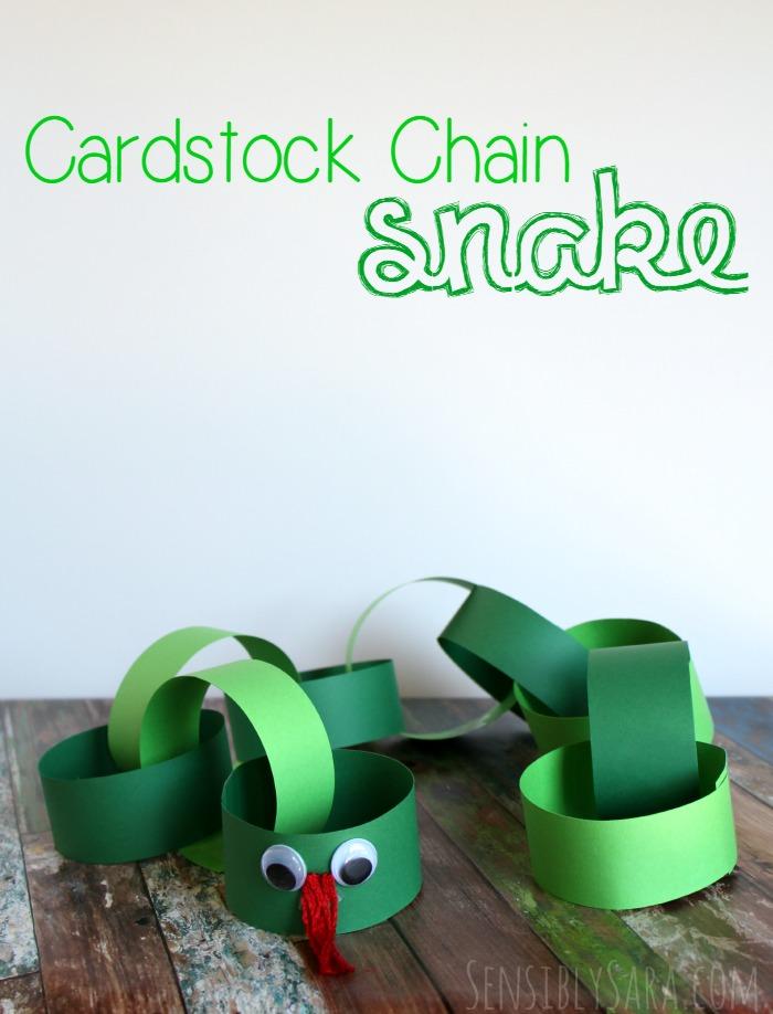 Cardstock Chain Snake | SensiblySara.com