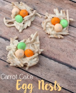 Carrot Cake Egg Nests {Easter Dessert Recipe}