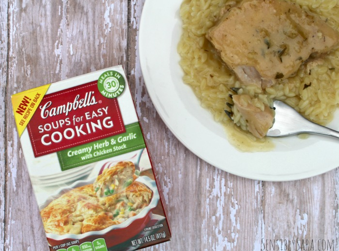 Slow Cooker Pork Chops using Campbell's Soups for Easy Cooking | SensiblySara.com