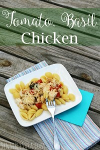 Kids in the Kitchen: Tomato Basil Chicken