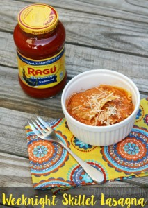 Kids in the Kitchen: Weeknight Skillet Lasagna with Ragú #Saucesome