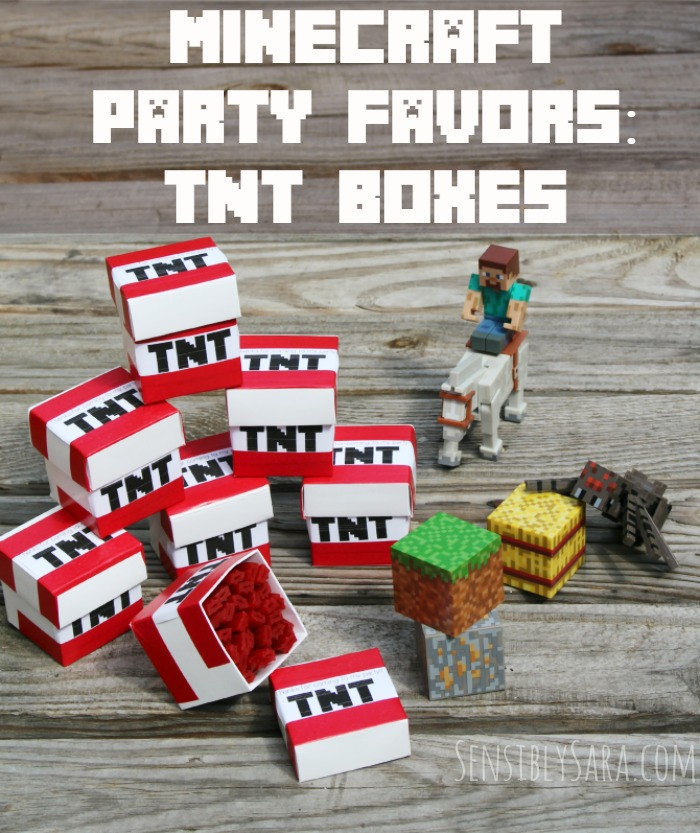 Minecraft Party Favors: TNT Boxes | SensiblySara.com