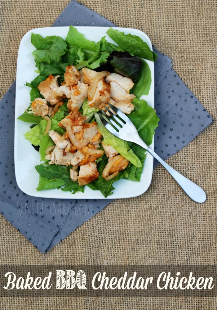 Baked BBQ Cheddar Chicken Recipe | SensiblySara.com