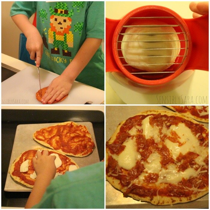 Kids in the Kitchen Homemade Pizza | SensiblySara.com