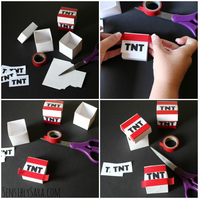 TNT Party Favors Collage | SensiblySara.com