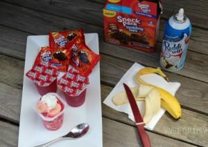 Strawberry Banana Snackety Splits #SnackPackMixins #ad