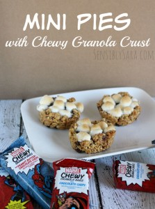 Mini Pies with Chewy Granola Bar Crust [AD] #MARVELSnackBar