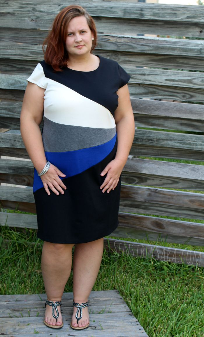Dress with Cobalt Blue Accent | SensiblySara.com