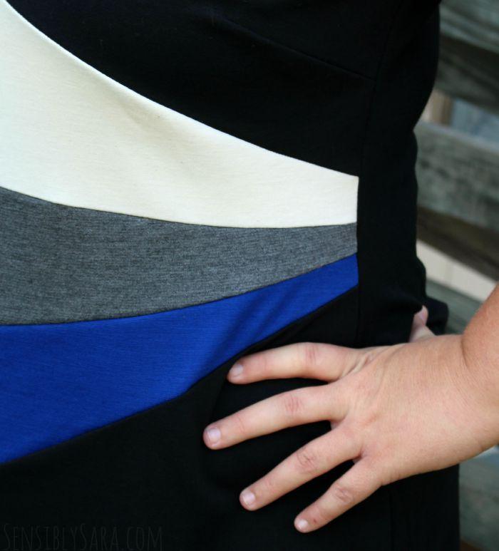 Fan Block Dress | SensiblySara.com