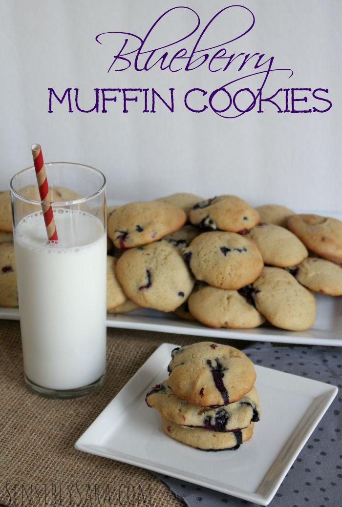 Blueberry Muffin Cookies | SensiblySara.com