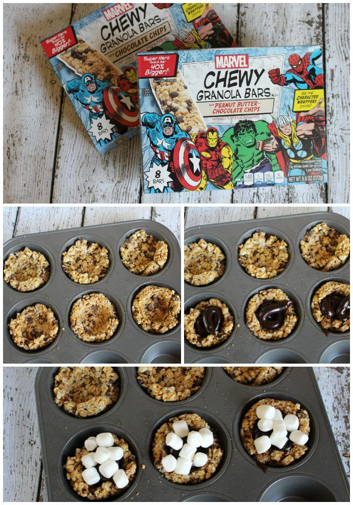 Mini Pies with Chewy Granola Crust Collage   SensiblySara.com