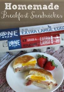 Homemade Breakfast Sandwiches [AD] #LoneStarEggs